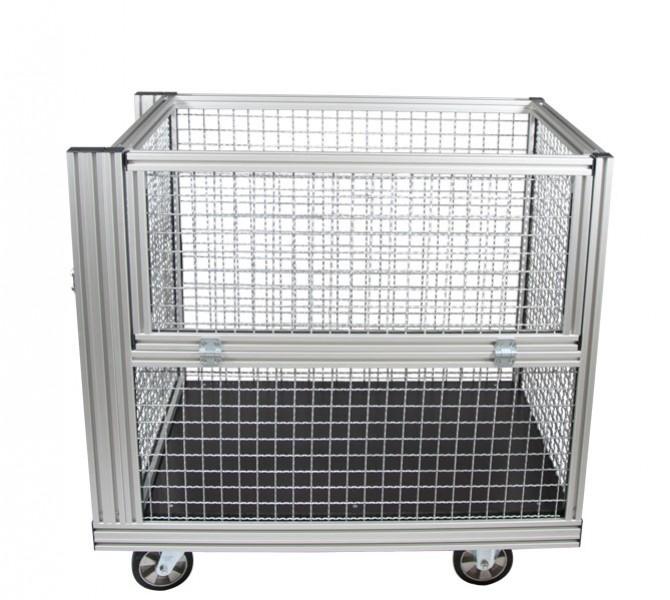 Rollcontainer alu  Weinhold112.de - Rollcontainer Gitterbox 1 (Stahl) - Weinhold112 ...