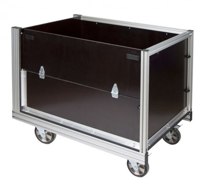 Rollcontainer alu  Weinhold112.de - Rollcontainer Gitterbox 2 (Fahrzeugplatte ...
